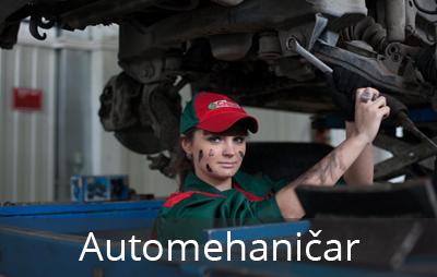 Automehaničar je obrazovni profil koji je bio aktualan kako u prošlosti tako i danas. Učenici se osposoblјavaju da vrše ugradnju, održavanje i opravku autodelova na vozilima na motorni pogon.