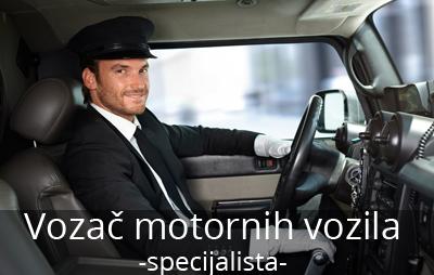 Vozač motornih vozila vrši prevoz putnika i robe, upravlјajući različitim motornim vozilima. Upoznat je sa pravilima o regulisanju saobraćaja i bezbednosti na putu.