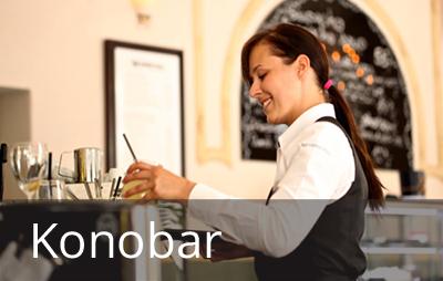 Konobar poslužuje hranu i piće u ugostitelјskim objektima. Konobarsko zanimanje uklјučuje i druge poslove vezane za posluživanje gostiju, kao što su postavlјanje stolova i njihovo pospremanje nakon upotrebe, ispostavlјanje računa i naplata usluga.